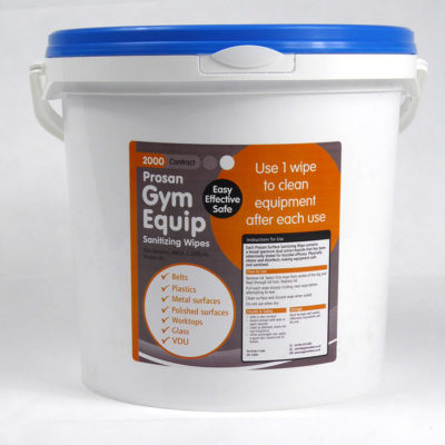 2000 Sheet contract gym wipes. Each wipe is 15x20cm with easy tear perforations.