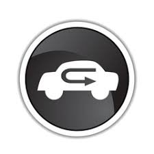 Typical image of the air recirculation button in a vehicle